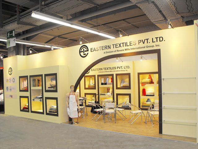 Exhibition Stand Textile : First rain exhibits