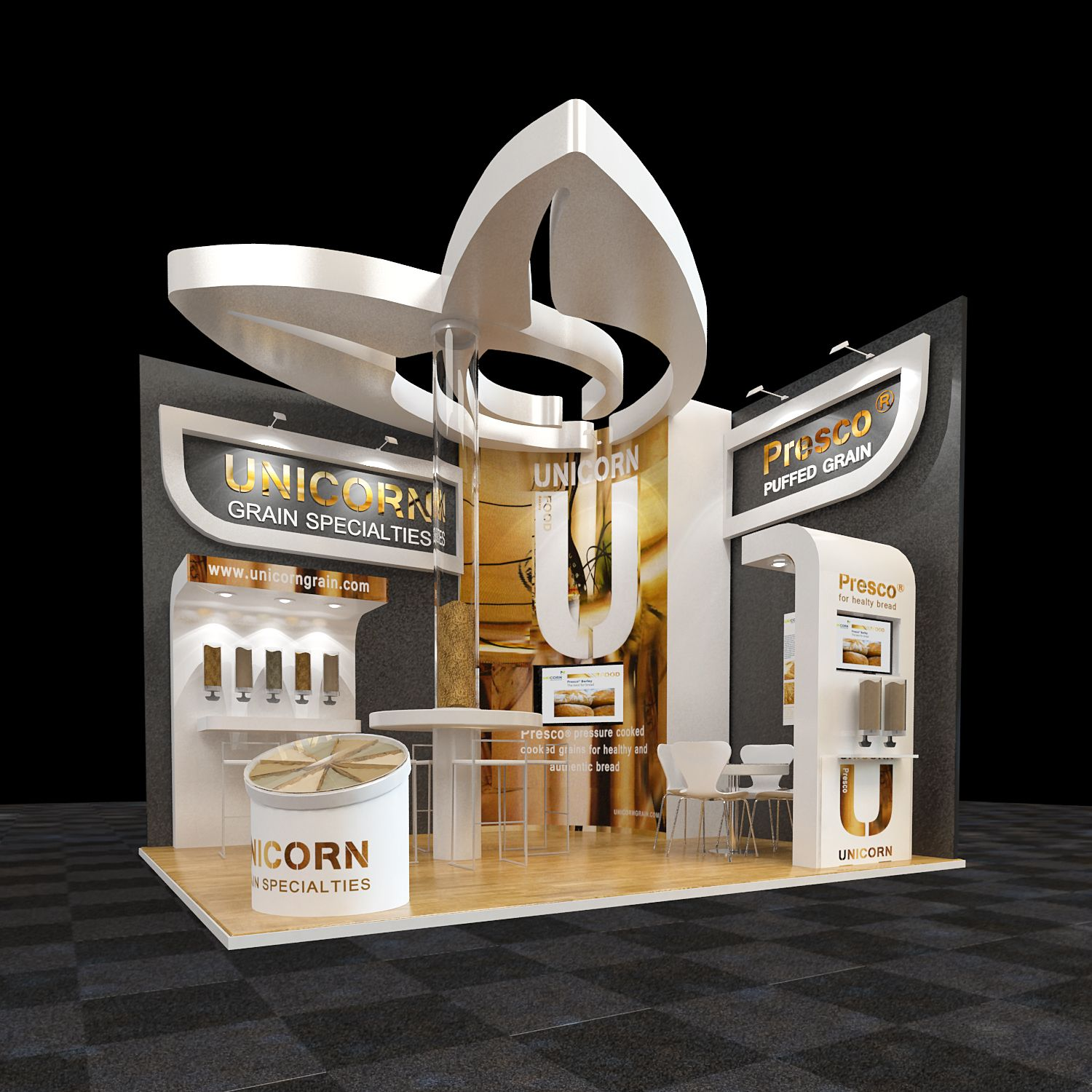 Simple Exhibition Stand Here Alone : Exhibition d design