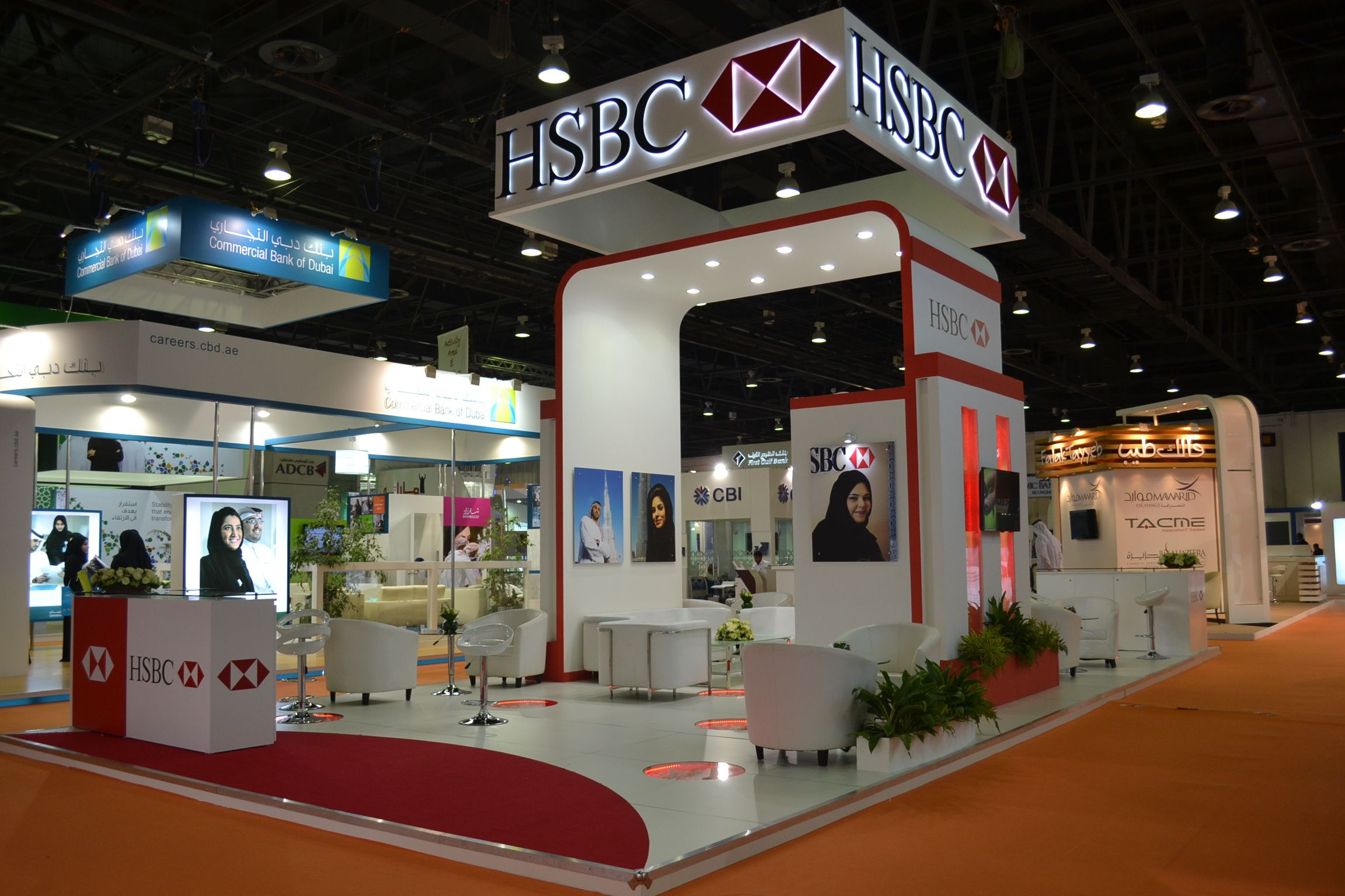D Exhibition Stall Designer Jobs In Dubai : Hsbc booth dubai career fair