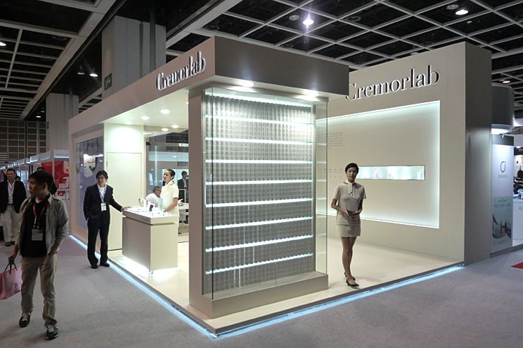 Simple Exhibition Stand Quotes : Exhibition booth equipped with led cosmoprof asia
