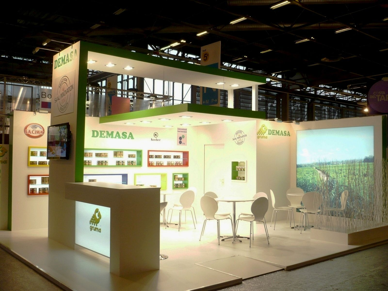 Modern Exhibition Stand By Me : Stand demasa at sial exhibition in paris