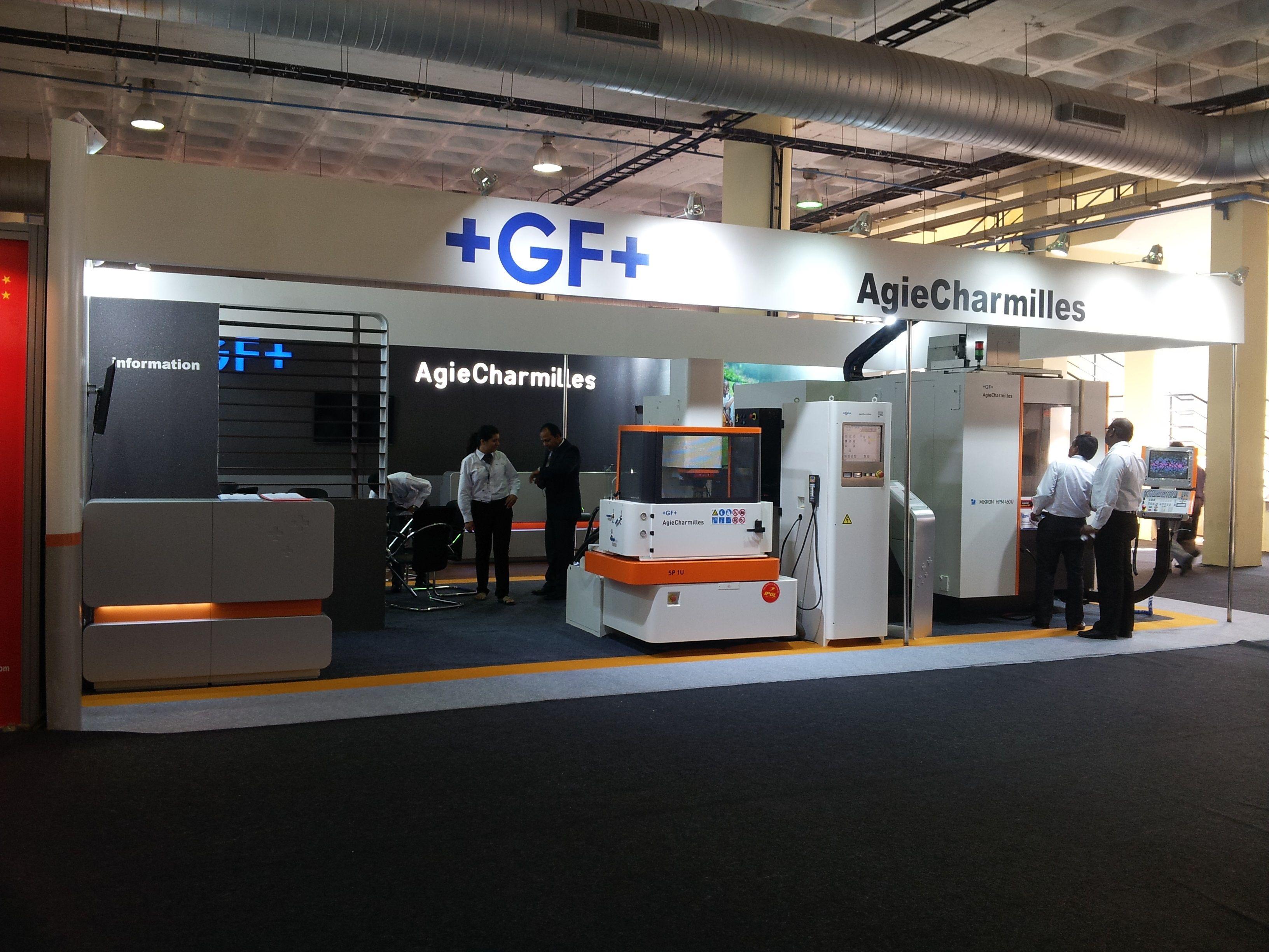 Gf agie charmilles imtex 2013 stall design fabrication for Fabricant de stand
