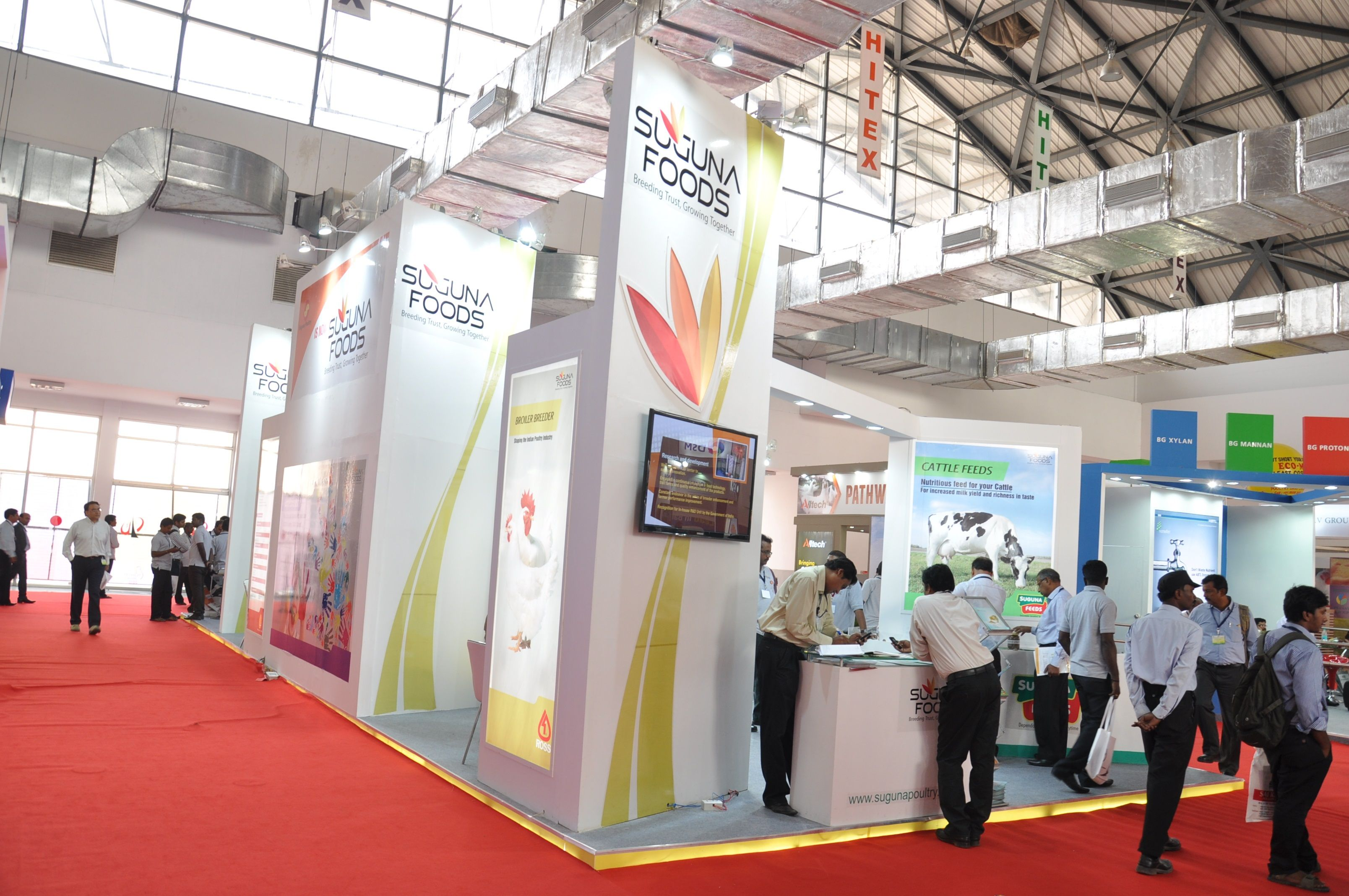 Exhibition Stall Panels : Suguna foods poultry india hitex hyderabad