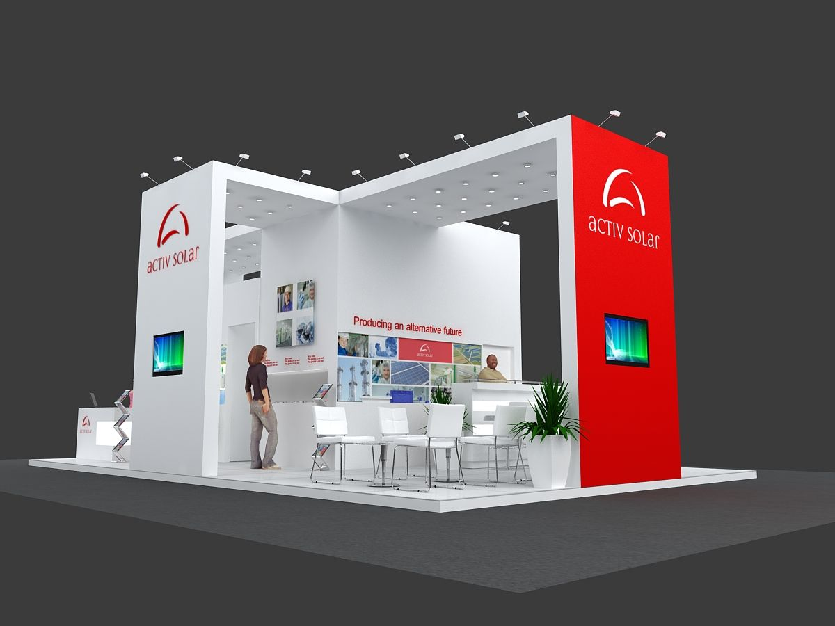 Marketing Exhibition Stand Goals : Kontar group stands