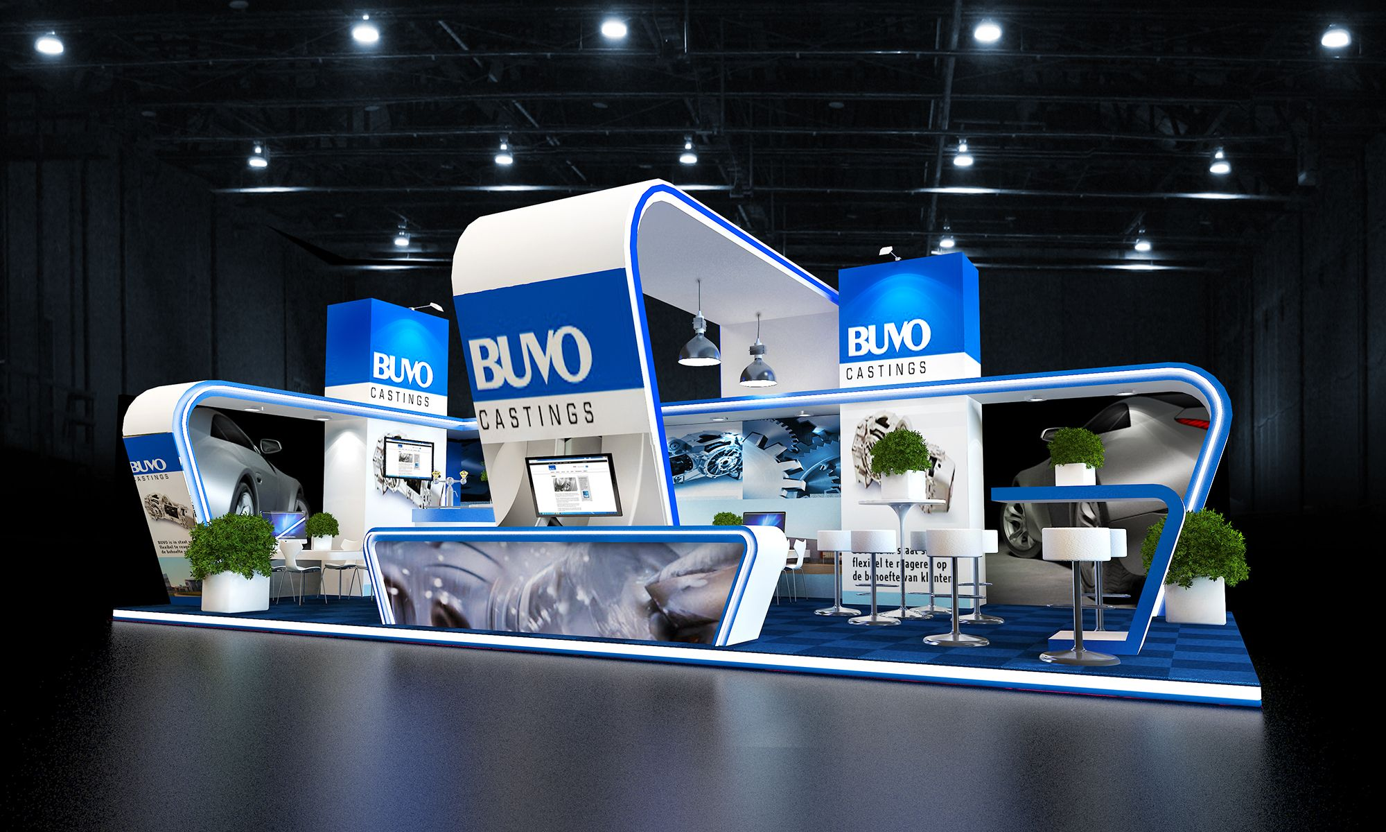 Exhibition A Booth : Midsized exhibition booth