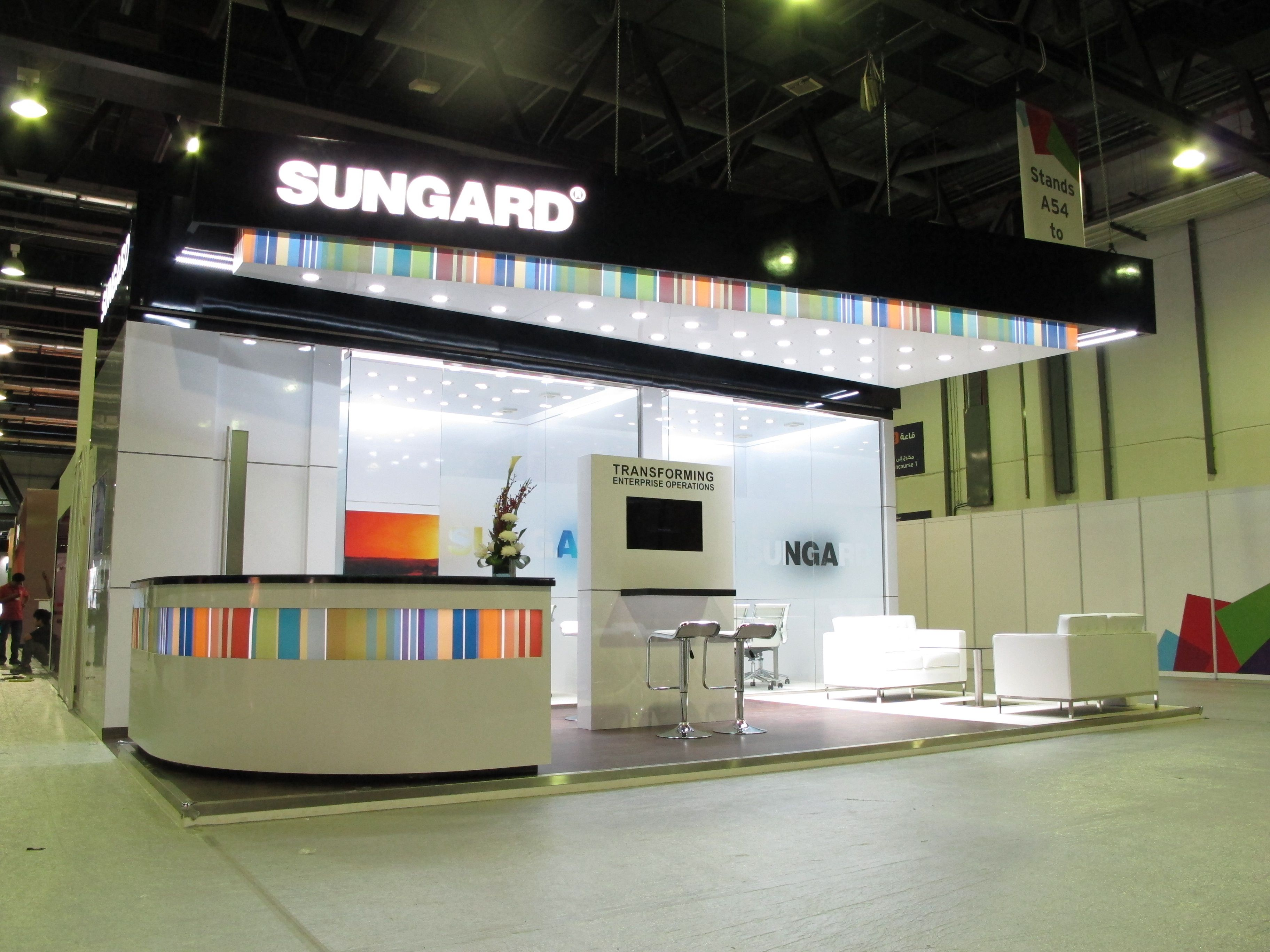Sungard Exhibition Stand Qatar : Sungard booth at sibos dubai