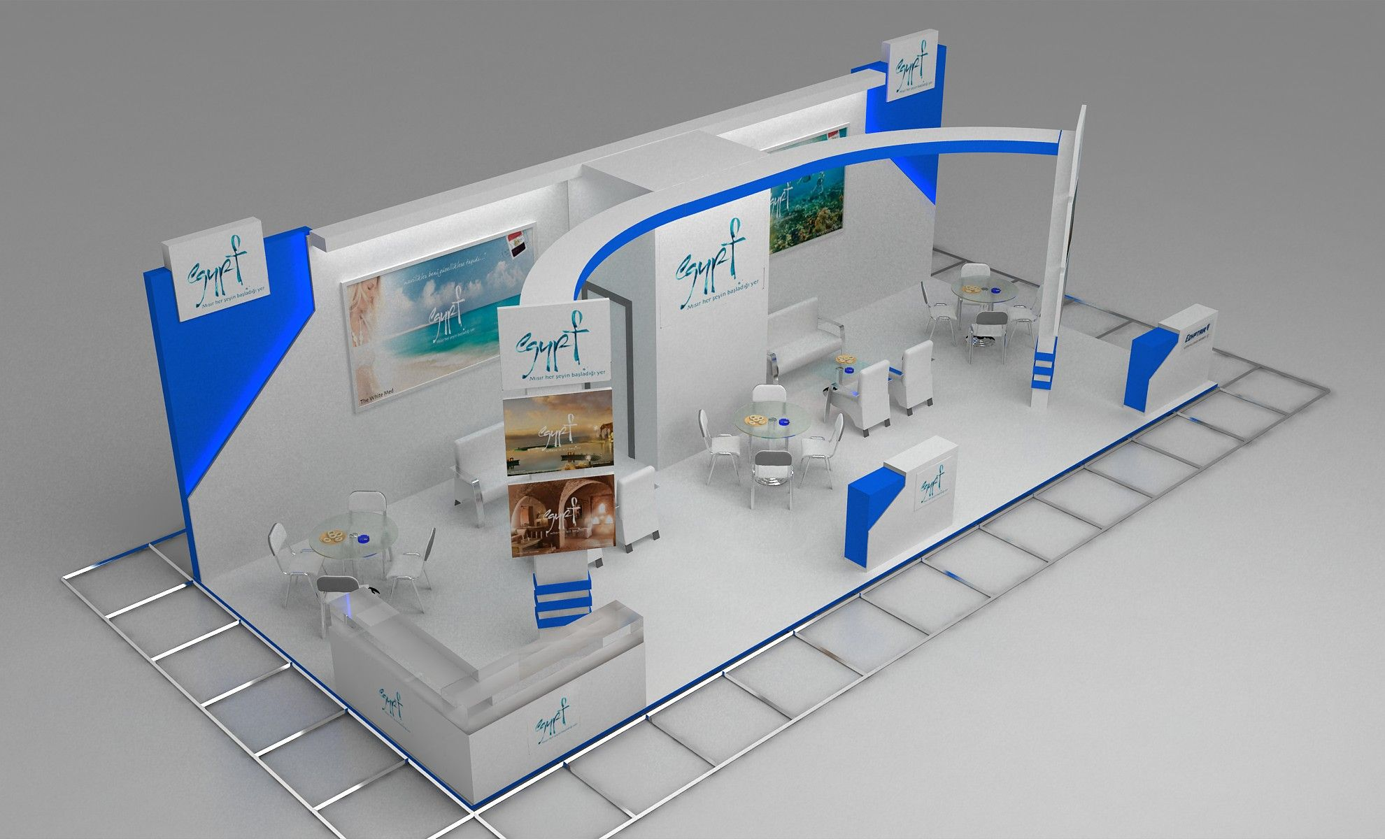 Expoloji dogan fair stand decoration architectural services for Stand commercial