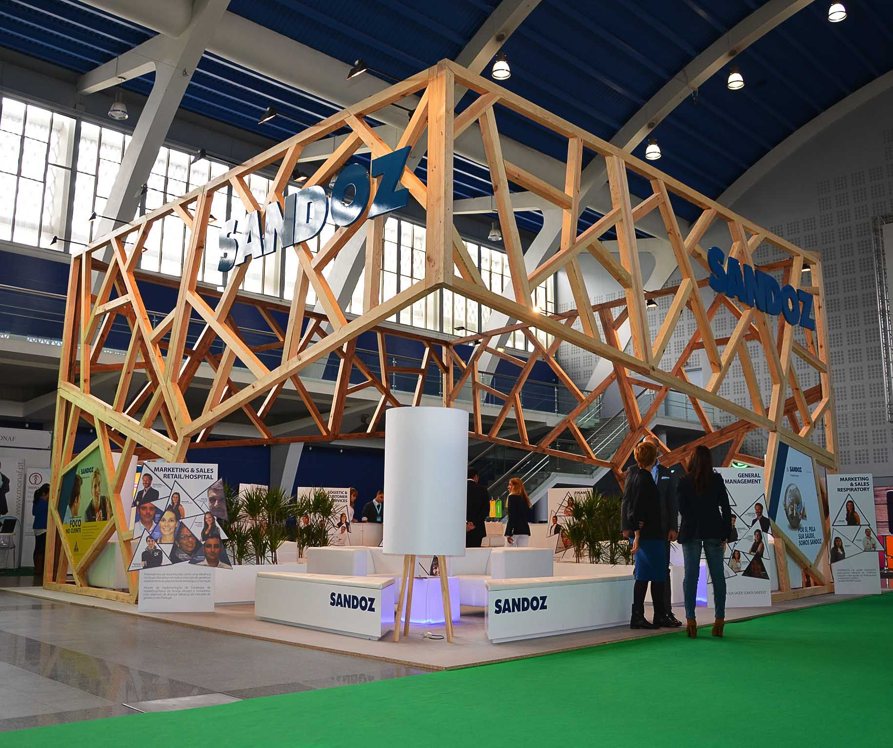 What Does Expo Stands For : Sandoz exhibition stand
