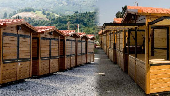Promotora de eventos en exteriores for Casetas de madera exterior