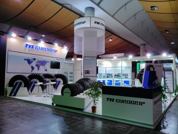 Agritechnika 100 sqm Exhibition Booth for TVS Eurogrip