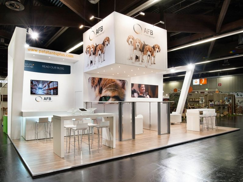 Award Winning Exhibition Stand Design : Smart exhibition stand design de priester with led and