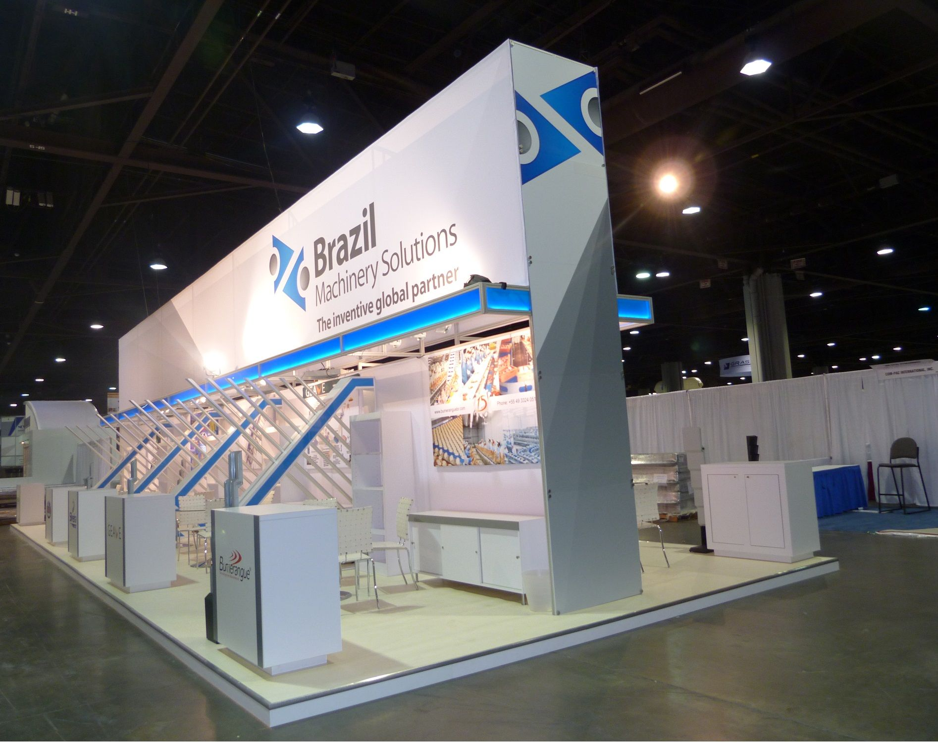 Exhibition Stand Wall Design : Ippe atlanta brazilian pavilion