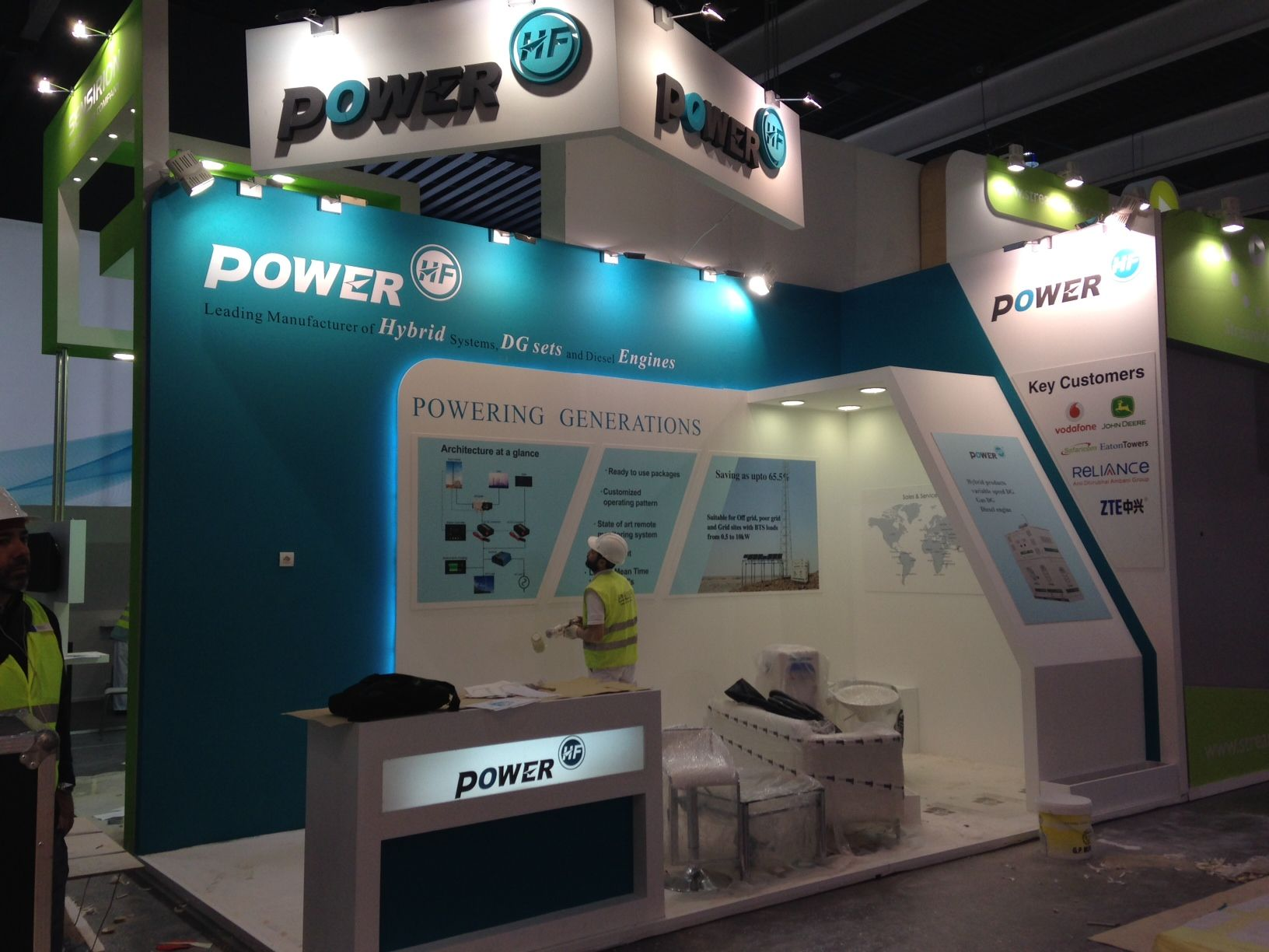 Expo Stands 2015 : Mobile world congress exhibition stand mwc hf power