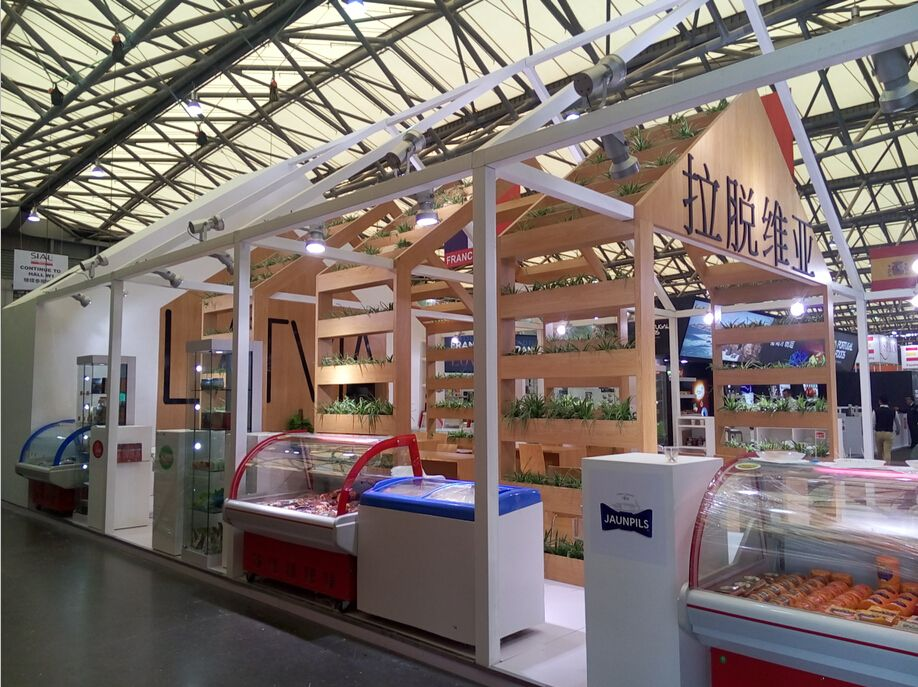 Exhibition Stand Builders China : Latvia pavilion at sial china stand builder yimu