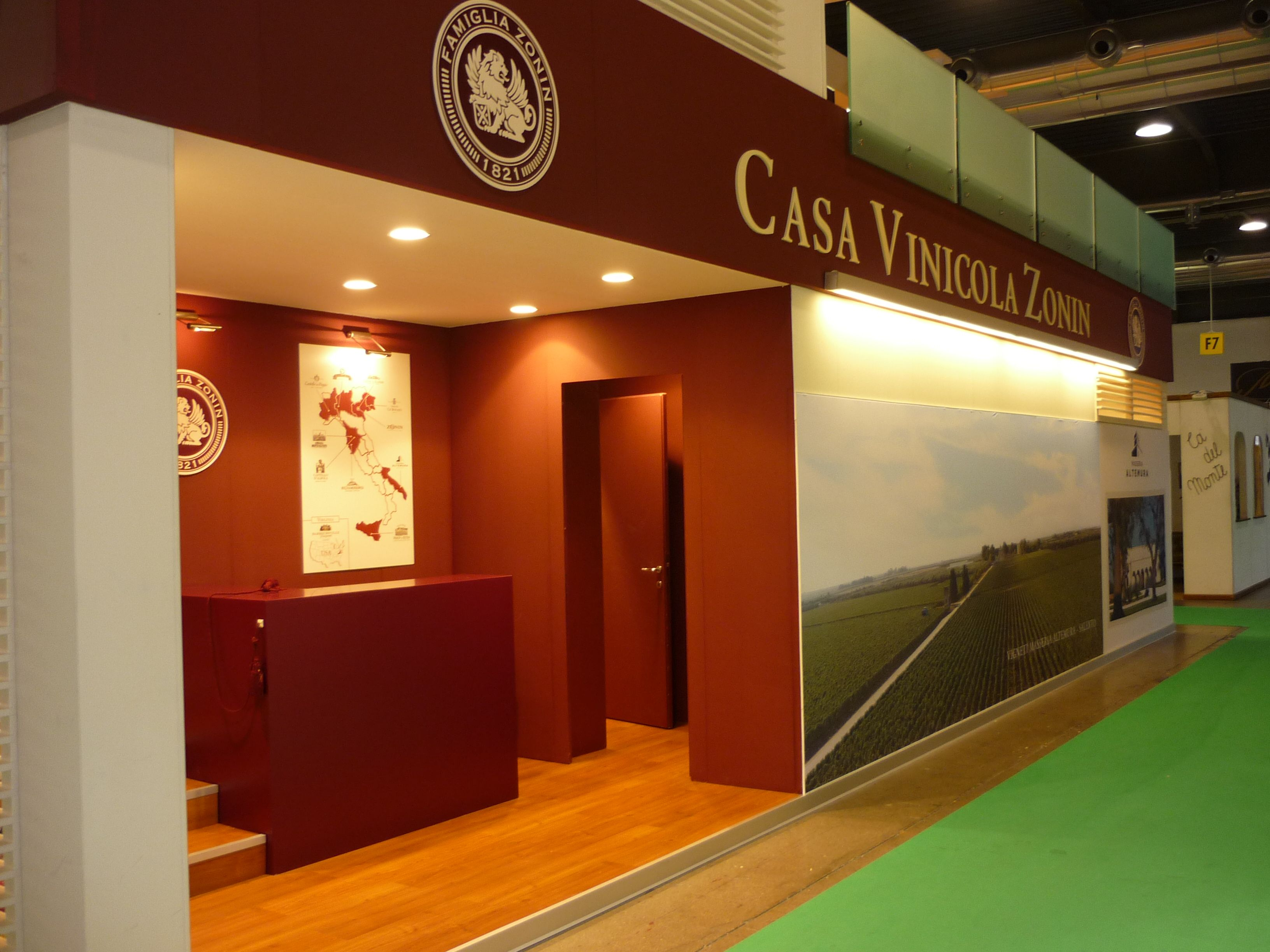 Exhibition Stand For Zara : Exhibition stand for casa vinicola zonin at vinitaly in verona