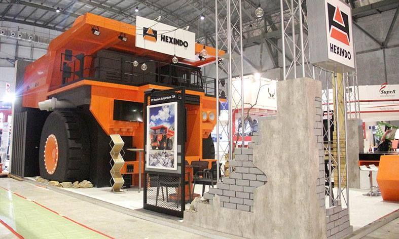 Exhibition Booth Equipment : Hexindo indonesia mining expo