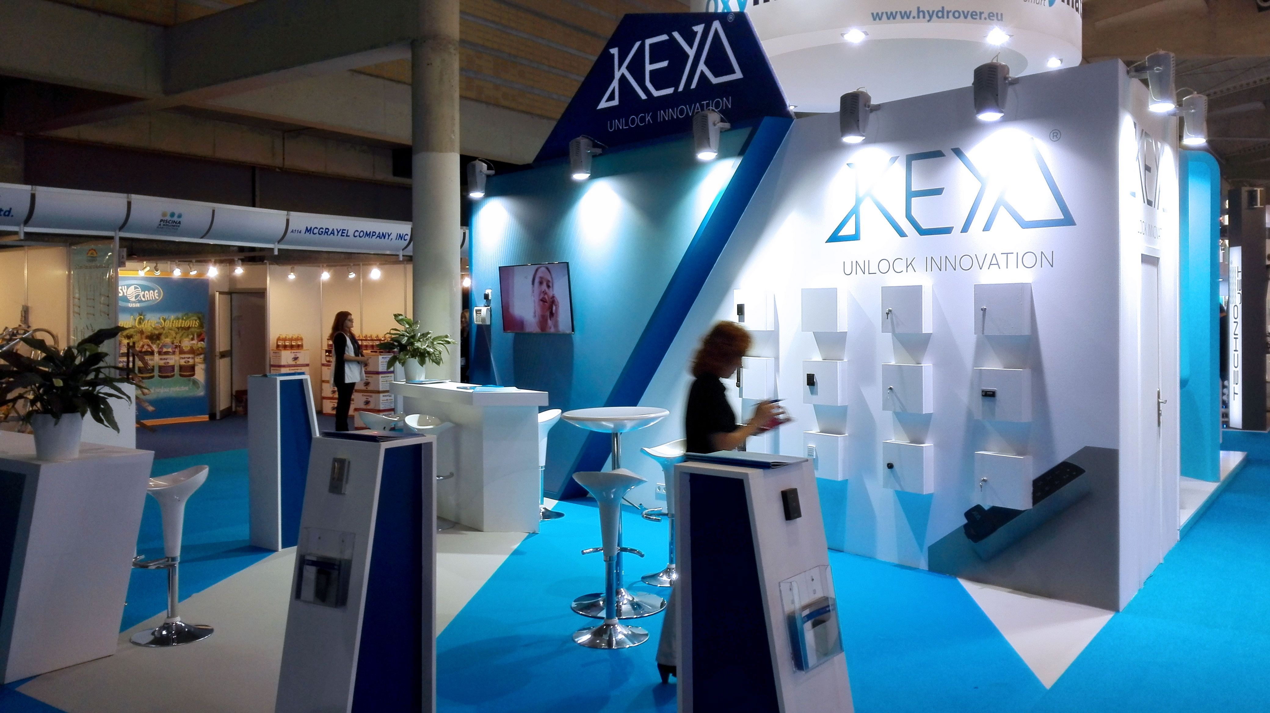 Grupo alc developed the stand project of the exhibitor for Piscina barcelona