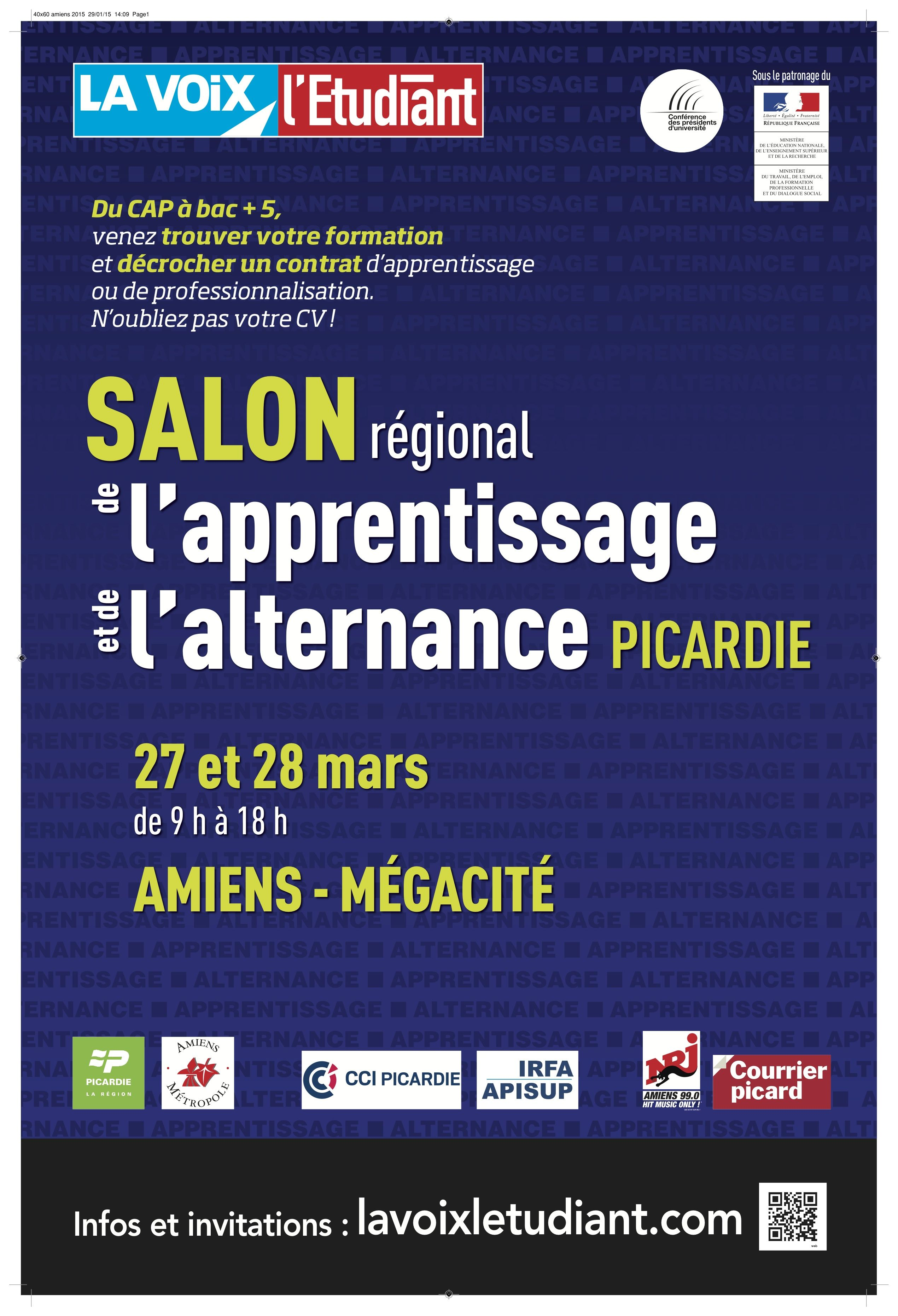 Salon de l 39 apprentissage et de l 39 alternance d 39 amiens 2019 for Salon de l apprentissage et de l alternance