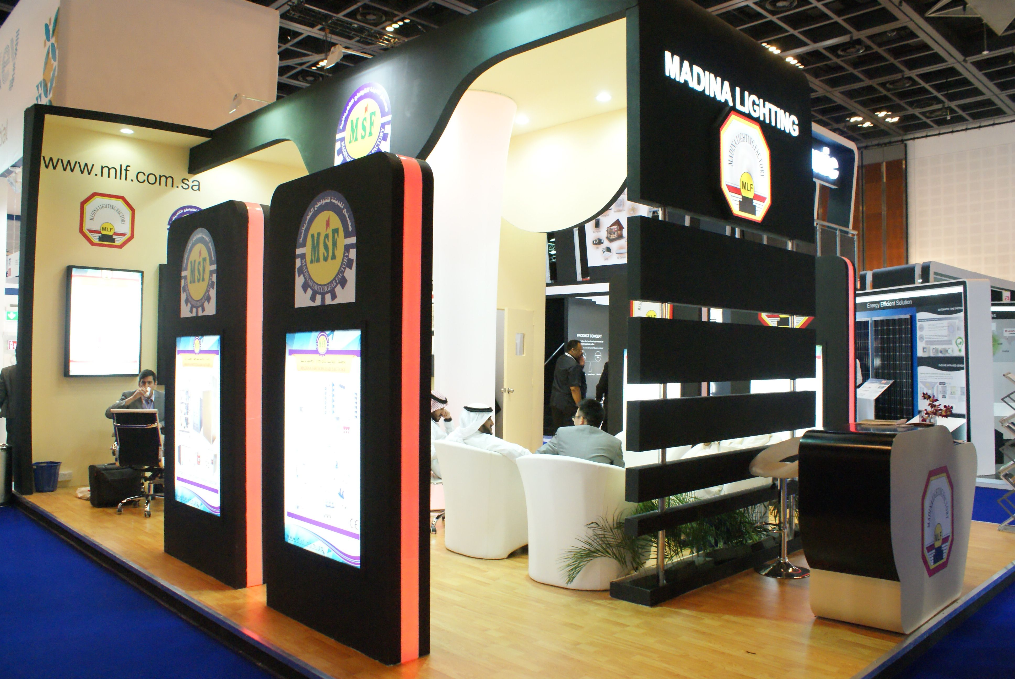 Exhibition Stands And Events : Stand design execution framelez team at middle east
