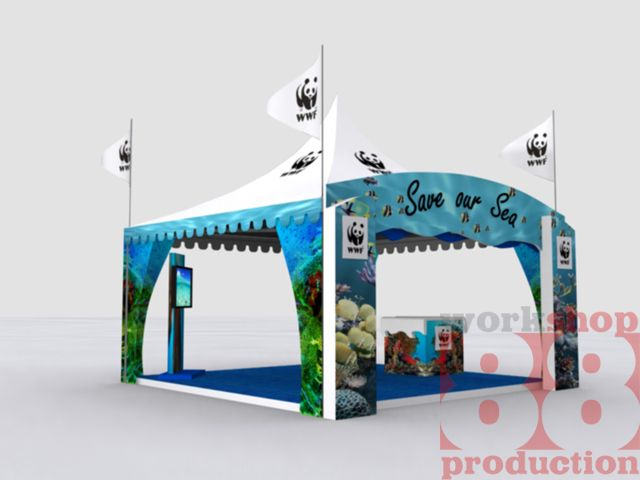 Outdoor Exhibition Stand Design : Booth wwf save our sea pantai kedonganan bali info