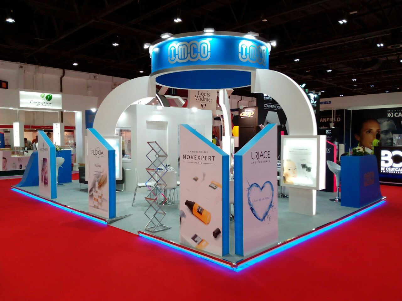 D Exhibition Stall Designer Jobs In Dubai : Dubai derma stand by concept exhibitions organizng