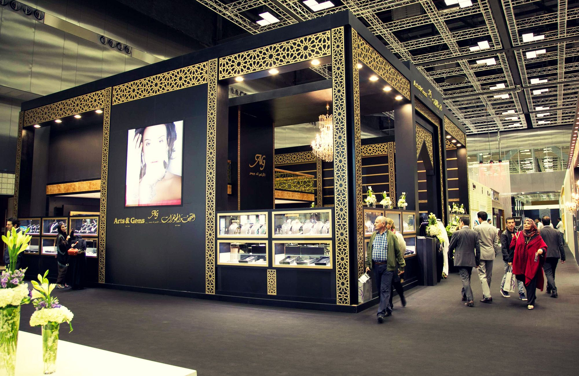Fabric Exhibition Stand Qatar : Whyte creations