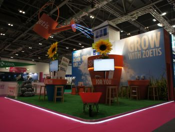 New Zoetis stand for The London Vet show 2016