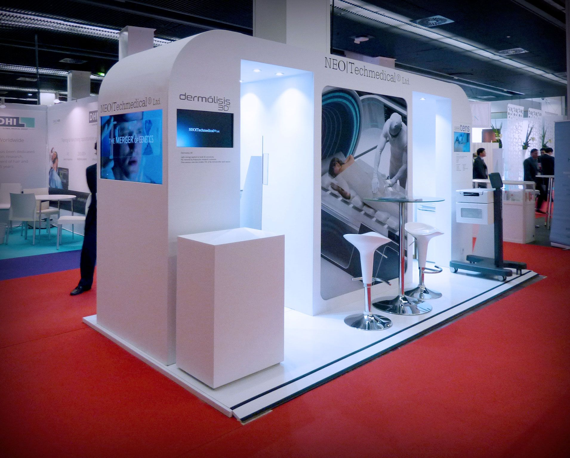Exhibition Stand Medical : Grupo alc builds the stand of neotech medical at imcas