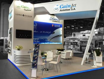 Gain Jet exhibition stand