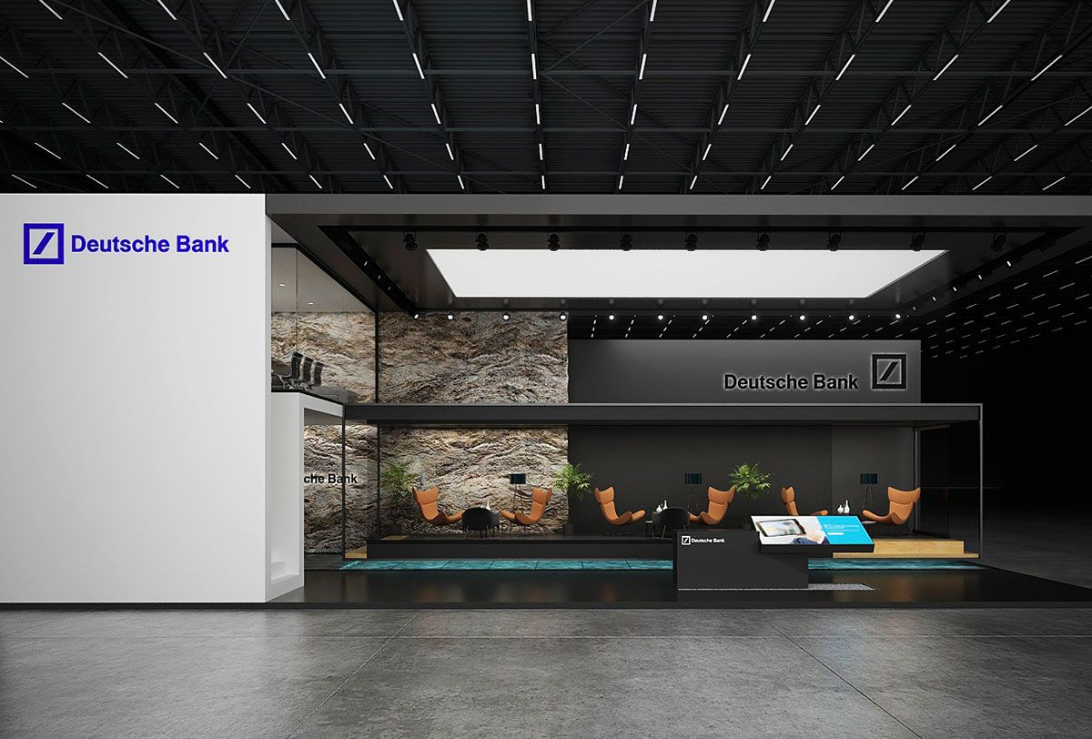 Deutsche bank exhibition stand design for Stand commercial