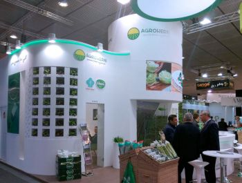 Grupo ALC designed two stands and built two more at 25th Anniversary of Fruit Logística. Agroherni, el Mosca, Jimbofresh and Puertos del Estado
