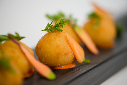 Croquetas De Jamon Serrano Tomato And Membrillo Puree 132