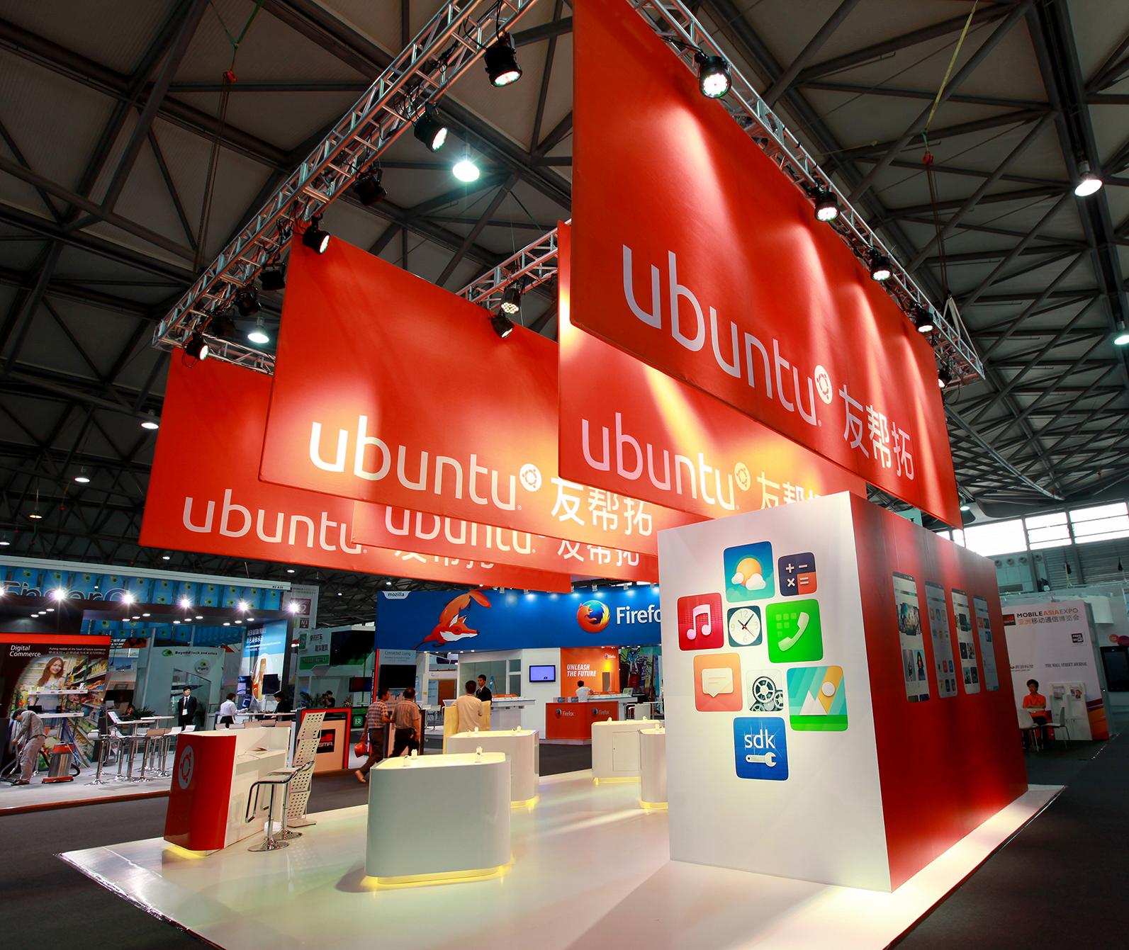 Shanghai Mobile Asia Expo Ubuntu Exhibition Stand