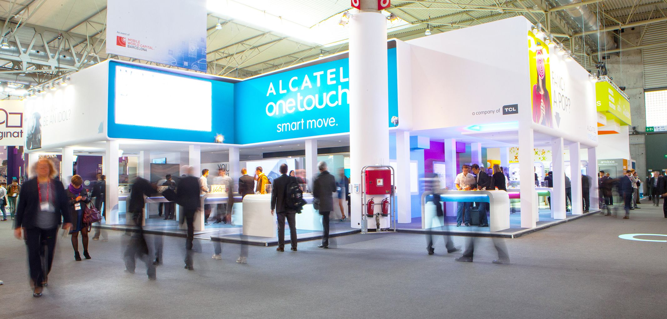 Alcatel Stand Mobile World Congress
