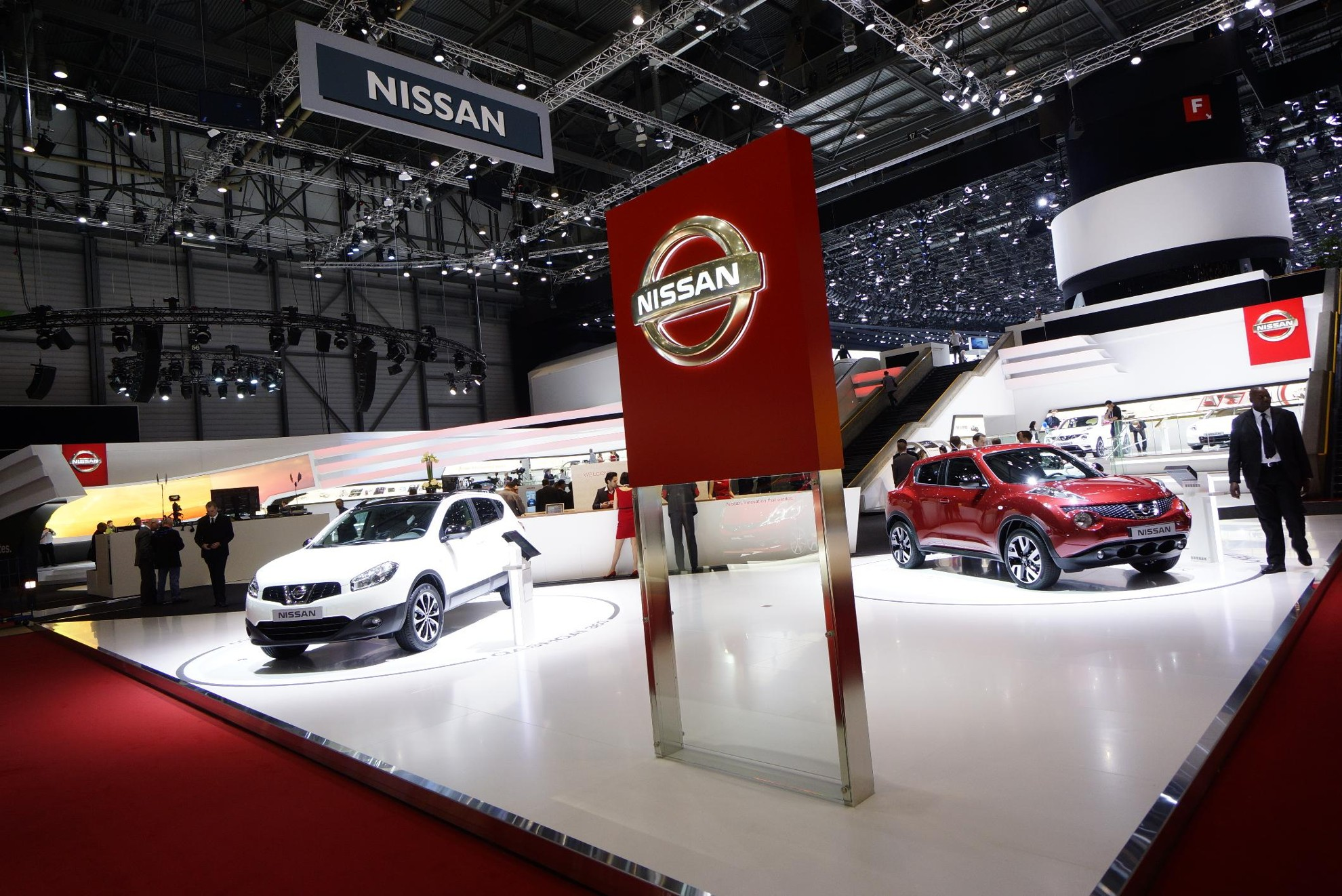 Nissan Exhibition Stand At Geneva Motor Show