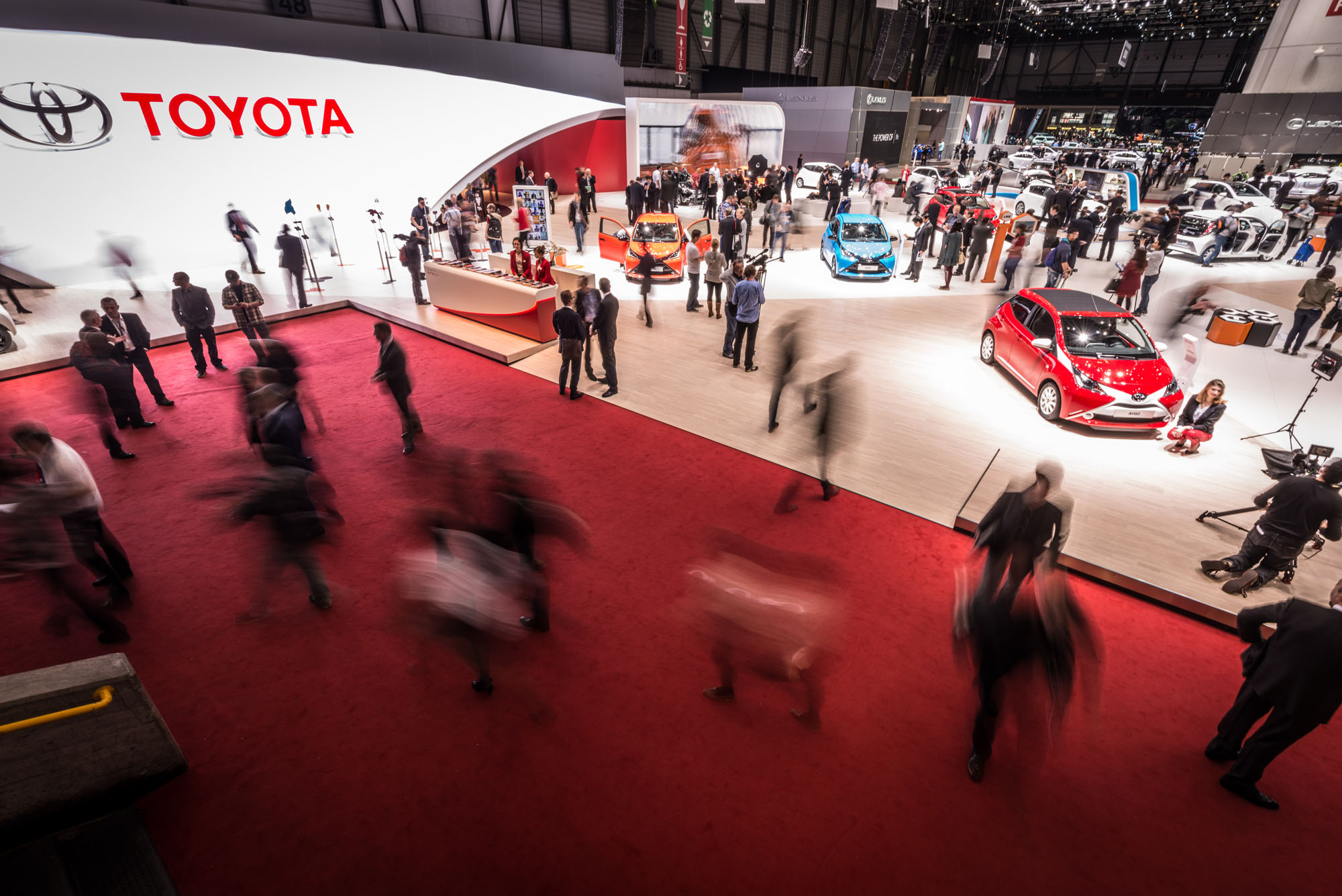 Toyota Stand At Geneva Motor Show