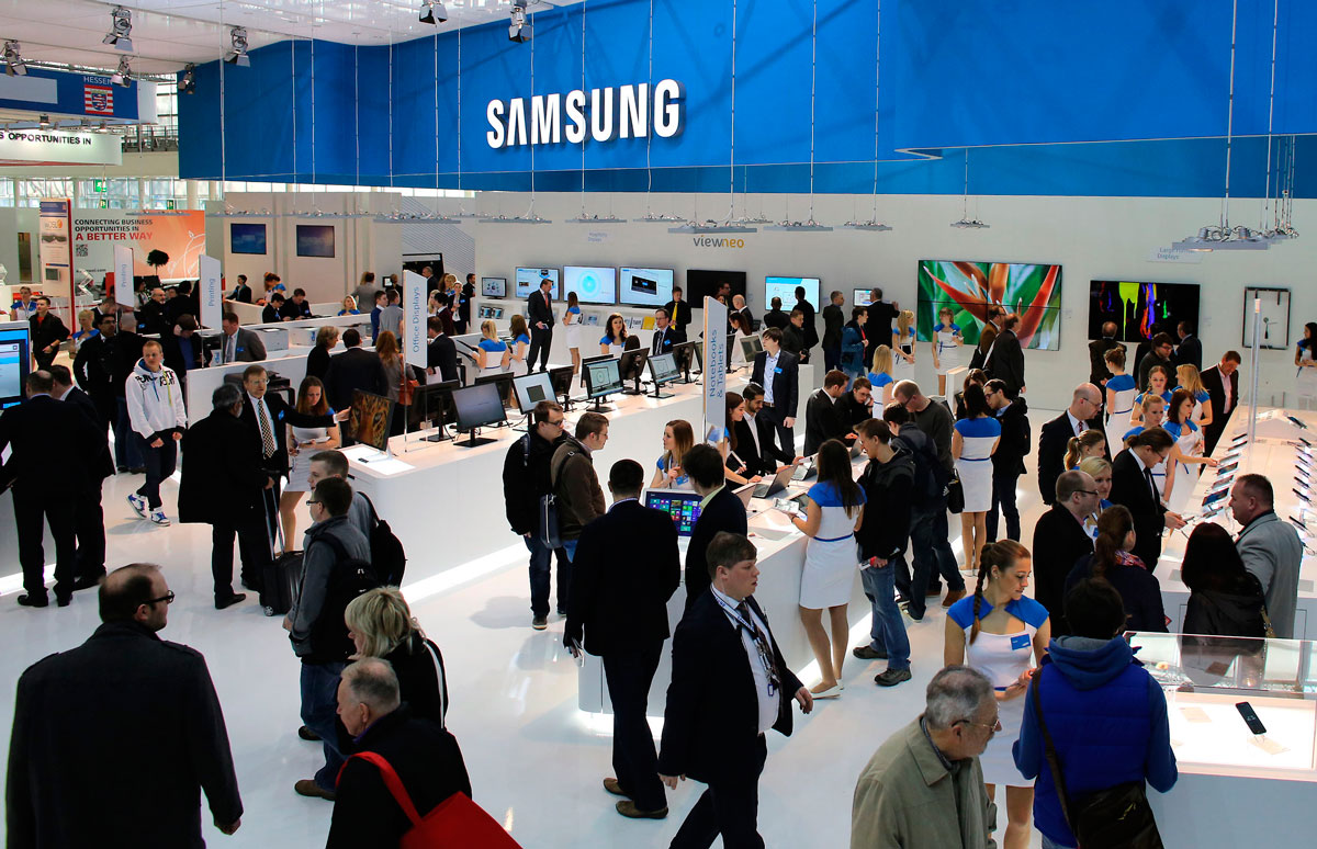Samsung Booth At Cebit Hannover