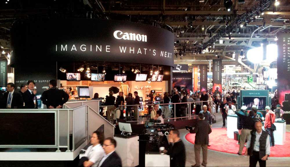 Canon Exhibit Design At Nab Show