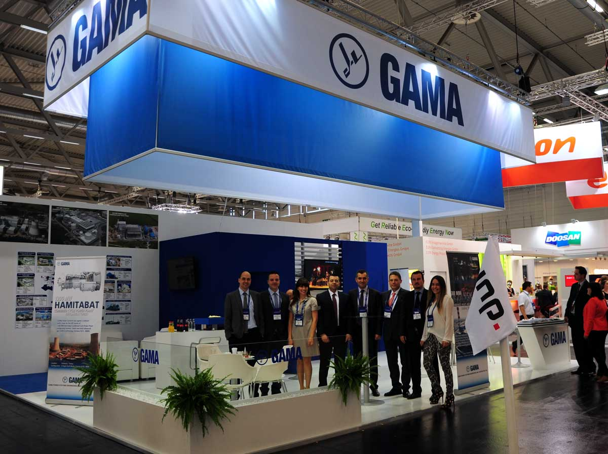 Gama Stand At Power Gen