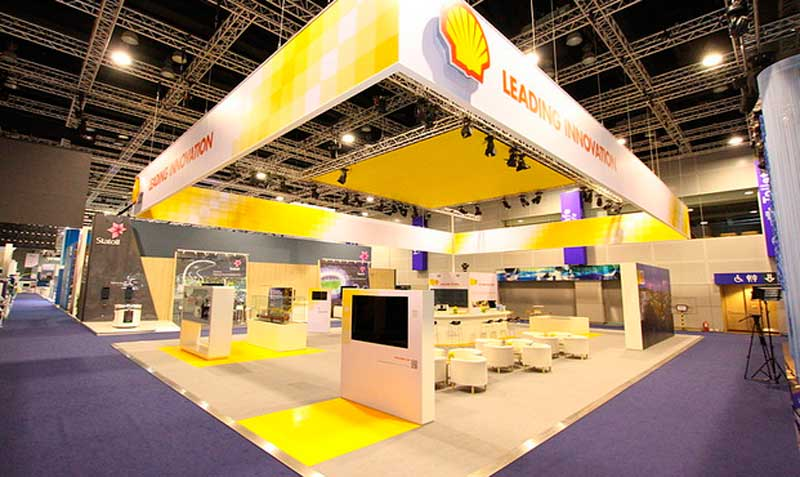 Shell Exhibition Kirkcaldy : Stands in wgc world gas conference