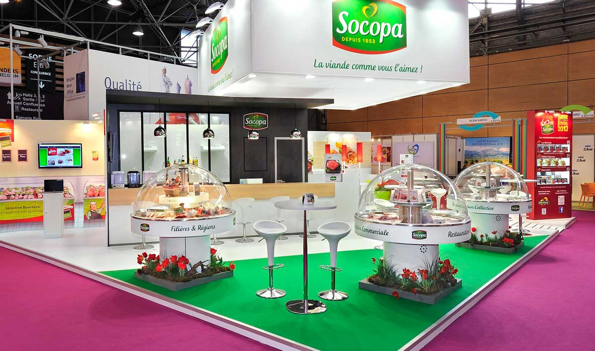 Food Exhibition Stand Design : Stands in sirha the world hospitality food service event