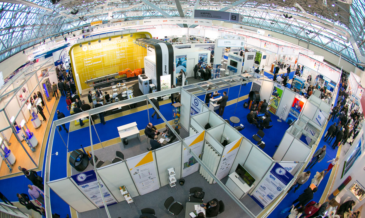 Interplastica Moscu Exhibition Stand Area
