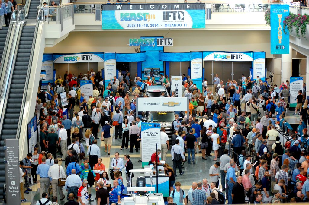Join icast the world s largest sportfishing trade show for Largest craft shows in the us