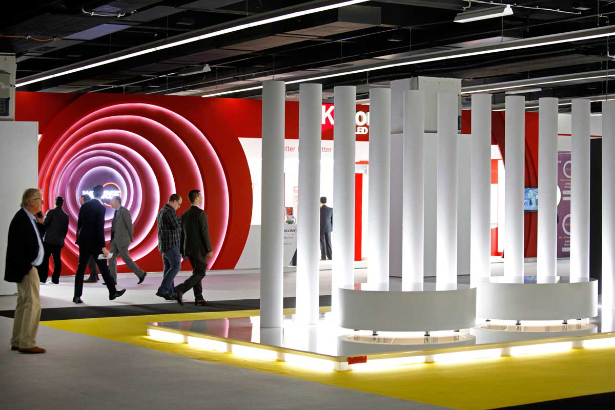 Exhibition Stand Lighting Game : Light and building frankfurt the biggest shower for