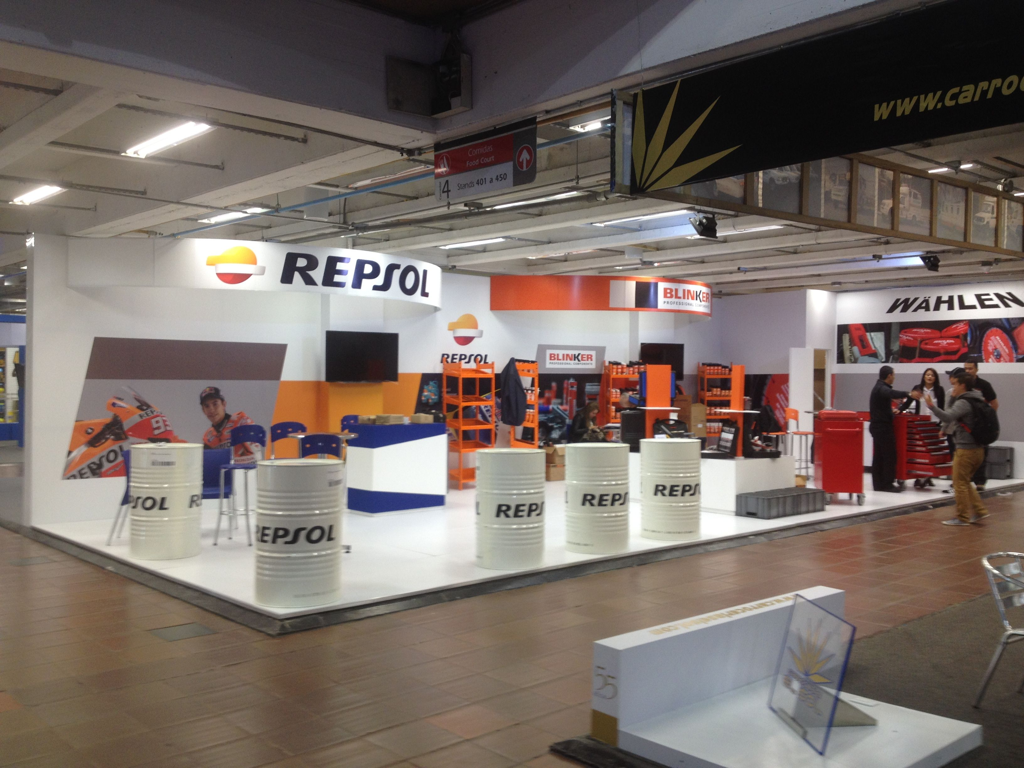 Diseño de stand para Repsol en Expo Oil and Gas Colombia 1