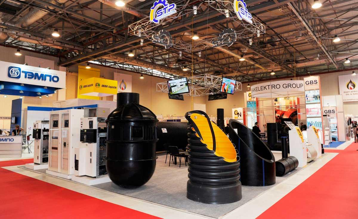 Exhibition stands in baku for Gas agency interior design