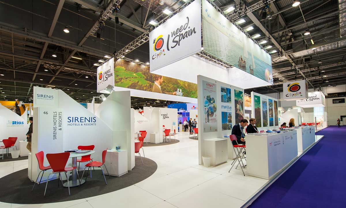 London World Travel Market Stand