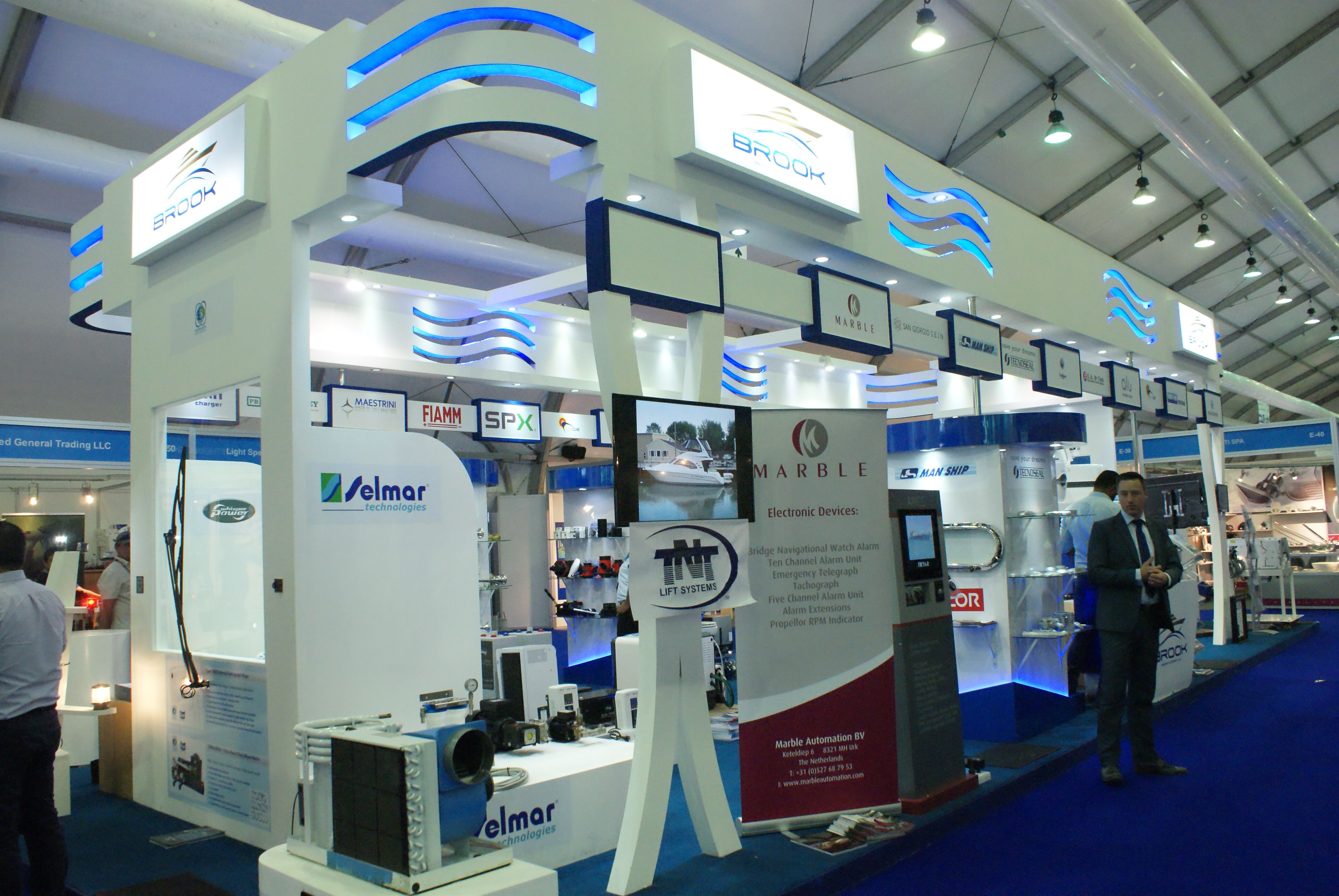 Stand Design & Execution : Framelez Team Boat Show at Dubai Marina 2015 1