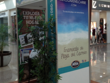 Promoter Stand for Cancun & Playa del Carmen 2012