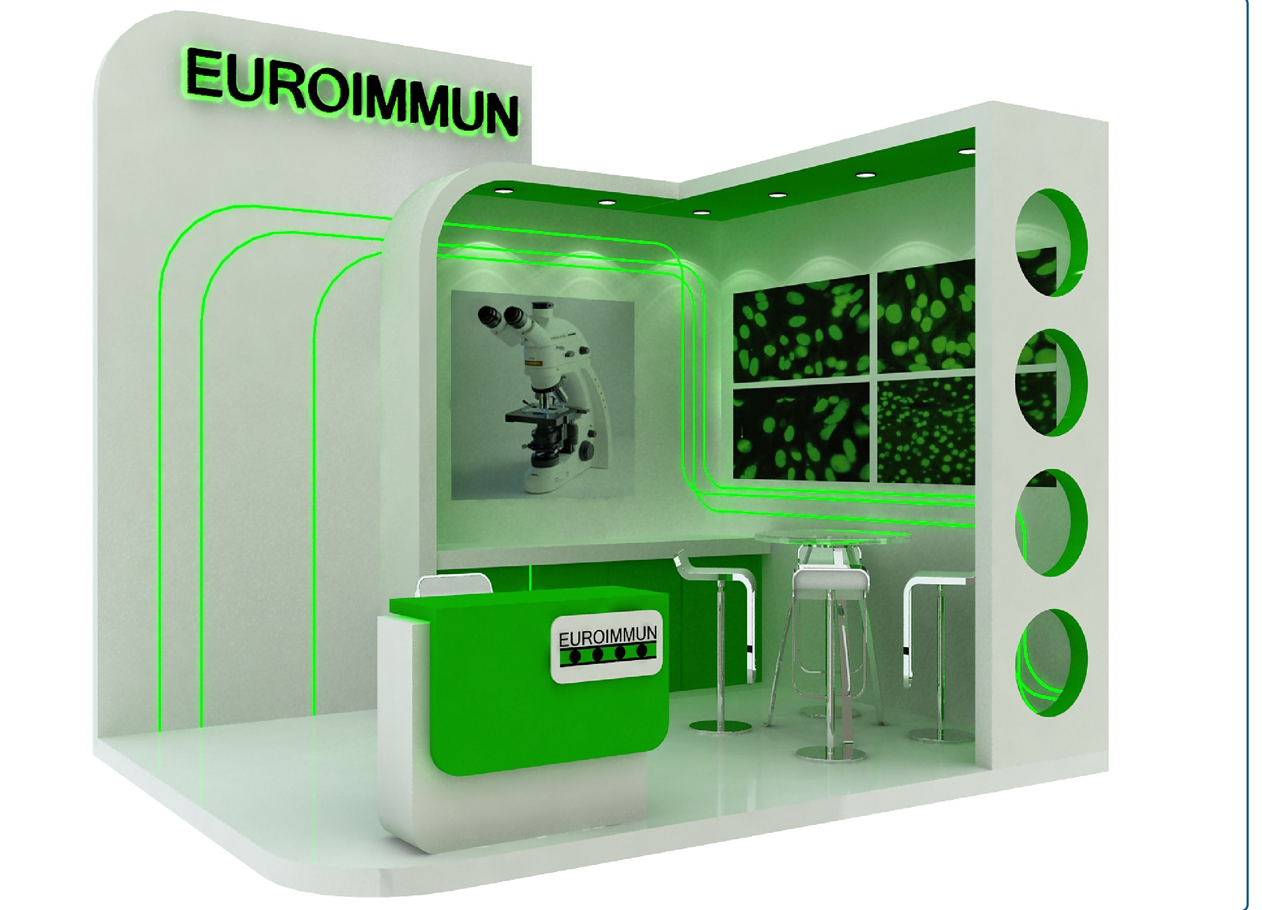 Exhibition Stand Free Mockup : Exhibition stands green roua